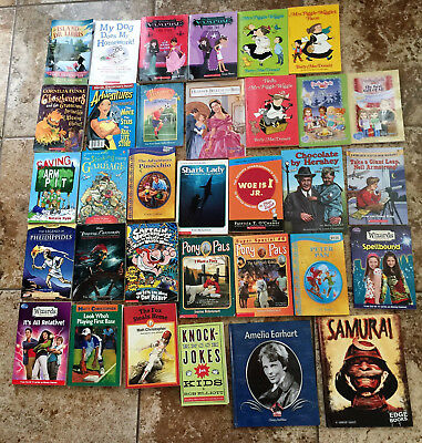 Lot of 33 Children Books 2nd grade for your classroom or kids AR level 2 - 3