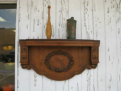 "Vintage Fireplace Mantel or Decorative Shelving 41"" Wide"