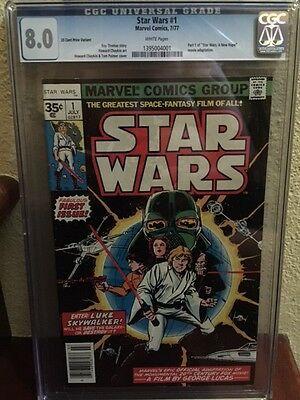 Star Wars #1 35 Cent Variant (1977, Marvel) .35 Graded Cgc 8.0 White Pages