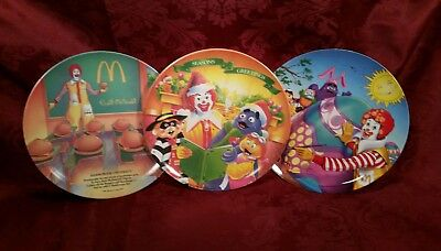 Vintage McDonalds Set of 3 McDonald's Corp. Plates ~Very Cool!!!
