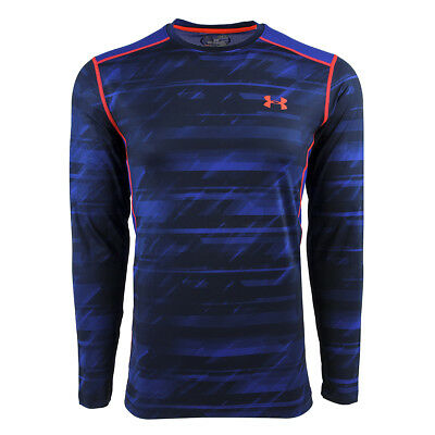 Under Armour Men's Raid L/S Fitted Tee Cobalt S