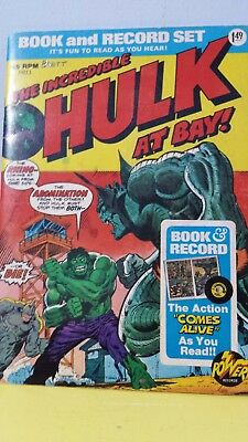 power records , the Hulk comic book and record , 1974 release