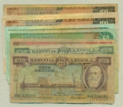 Portuguese Angola - Lot Of 13 Banknotes Vg/vf