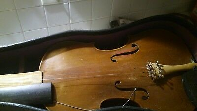 OLD   ANTIQUE   NICE   FULL SIZE 4/4 BEAUTIFUL VIOLIN  has label