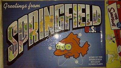 Simpsons Tin Wall Sign Greetings From SPRINGFIELD USA COLLECTIBLE  Poster