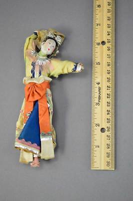 Antique Chinese Paper Mache Doll No Res.