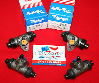 VW Beetle 1958-1975 2x Raybestos Front & Rear Wheel Cylinders (2 Pairs)
