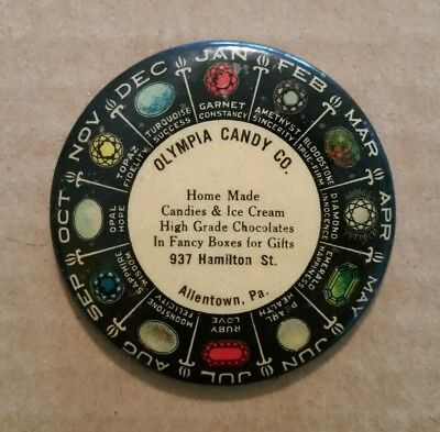 Olympia Candy Co.,Allentown,Pa.,Advertising Pocket Mirror,1920's