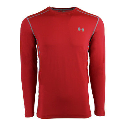 Under Armour Men's Raid L/S Fitted Tee Red/Steel L