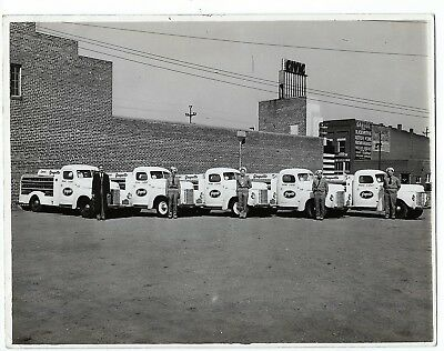 Grapette soda delivery trucks & drivers on B&W glossy photo 1940s vintage