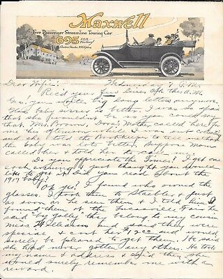 Maxwell Touring Car Illustrated Letterhead