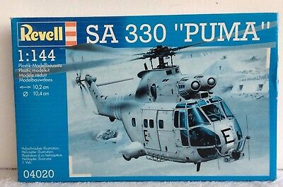 Revell 1/144  SA 330 PUMA Helicopter  (Factory sealed)  04020 RARE