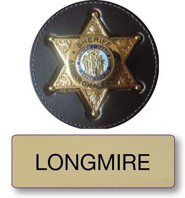 "Longmire Police Name Badge & Sheriff 3"" Button Halloween Costume Pin Back"