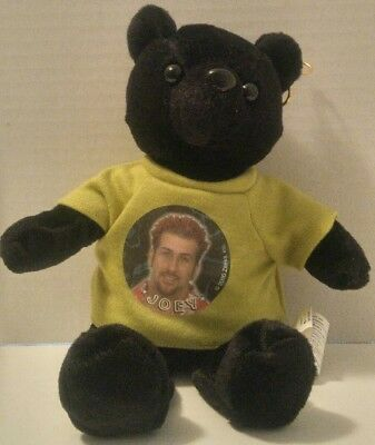 NSYNC N'Sync JOEY Plush Toy 2000 Black BEAR Green SHIRT Earring