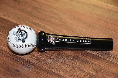 NEW older Miller Genuine Draft Baseball Beer Tap handle bar pub 10""