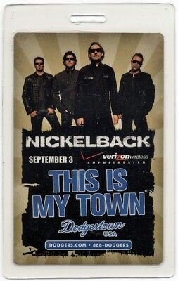 Nickelback authentic 2009 concert tour Laminated Backstage Pass VIP