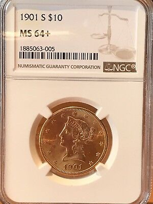 1901-s $10 Liberty NGC MS64+ PLUS No Reserve & Very Beautiful !!!
