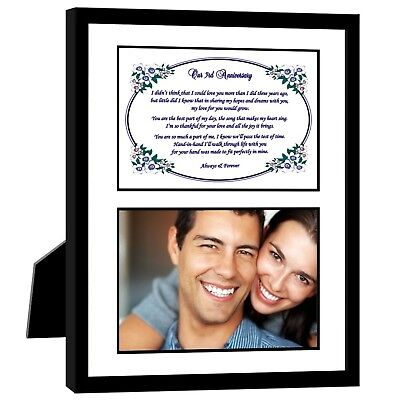 3rd Wedding Anniversary Gift  Romantic Love Poem for Husband or Wife in 8x10 ...