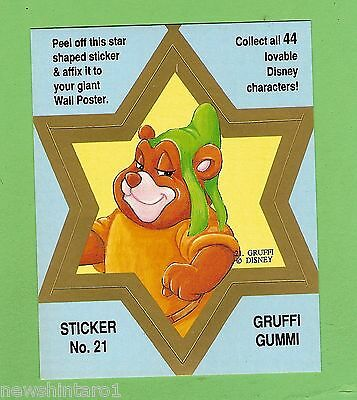 #d544. Disney Star  Sticker Card #21  Gruffi  Gummi, Blue