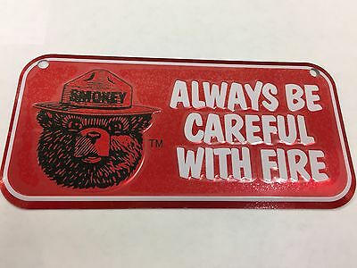 Red Smokey Bear Metal tin sign license