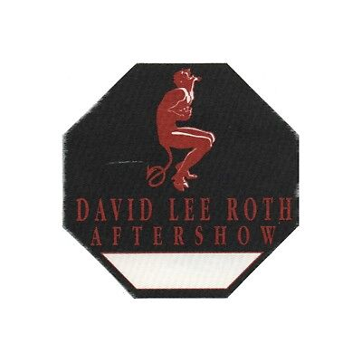 David Lee Roth authentic Aftershow 1991 tour Backstage Pass