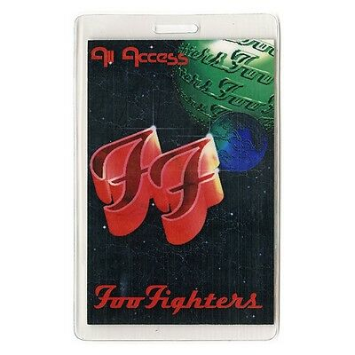 Foo Fighters authentic concert tour Laminated Backstage Pass Dave Grohl
