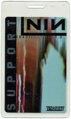 Nine Inch Nails authentic 2000 concert Laminated Backstage Pass Fragility Tour