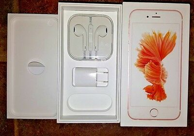 iPhone 6s Rose Gold 32GB retail box + EarPods + USB power adapter
