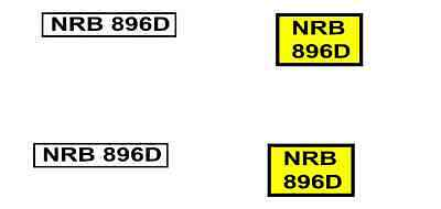 yellow / white 1/50 scale number plates for models corgi etc personalised