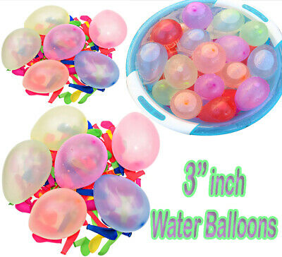 """3"""" Inch Baloon Balon Balloon Mix Small Latex Best Air , Water Balloons Party New"""