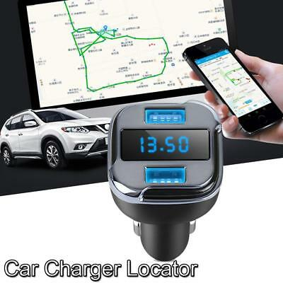Dual USB Car Charger Tracker Locator GPS Real Time GSM GPRS Vehicle Tracking UK