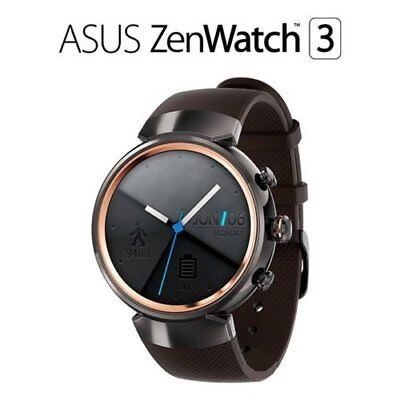 ASUS - ZenWatch 3 (WI503Q)1.39''Android Gunmetal(Brownish Gray Rubber)smartwatch