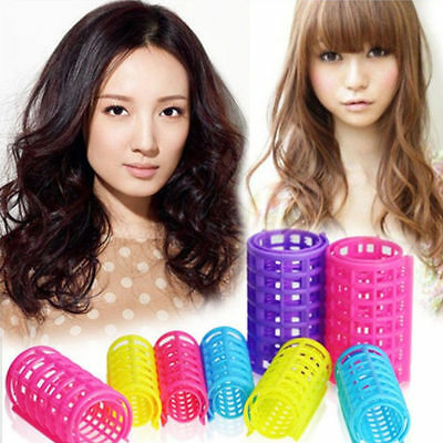 5Pcs Rollers Hair Curler Plastic Curling Clips Tube Hair Styling DIY Hair Tools