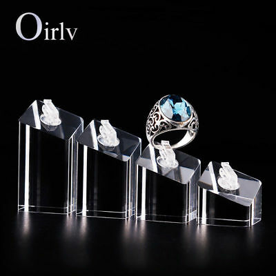 Oirlv Four-piece Transparent Acrylic ring display stand plexiglass display stand