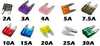 10x Assorted Mini Blade Fuses (11mmx15mm) o/e spec fits LAND ROVER