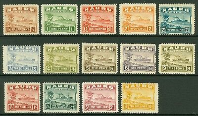 SG 26b/39b Nauru 1937-48 set of 4 values. ½d-10/-. Fine fresh mounted mint...