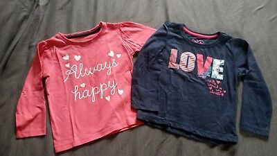 set of two long sleeved girls tops. 12-18 months.