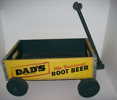 Vintage Dad's Old Fashioned Root Beer Wood Soda Pop Crate modified wagon
