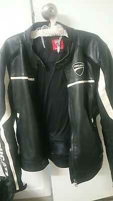 Ducati genuine leather riding jacket small.