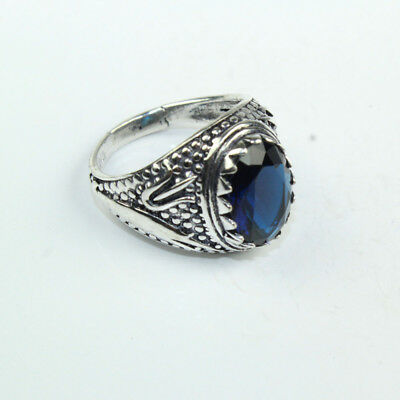 925 Sterling Silver Overlay Tanzanite Ring Sz Fashion Jewelry