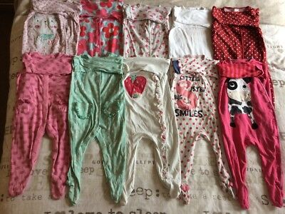 Girls NEXT Babygrows Bundle 9-12 Months X 10