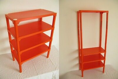 vintage 70er jahre space age designer pvc regal orange plastik m bel. Black Bedroom Furniture Sets. Home Design Ideas
