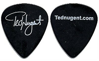 Ted Nugent authentic 2004 concert tour collectible band signature Guitar Pick
