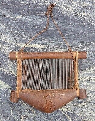 Good West African Tribal Art Carved Wooden Senufo? Weaving Textile Loom Shuttle?