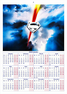 Superman The Movie - 2018 A4 CALENDAR ***LATEST BUY 1 GET 1 FREE OFFER***