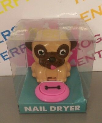 Doug the Pug Puppy Dog Novelty Nail Air Blow Dryer Beauty/Manciure/Gift