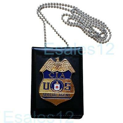 USA CIA Special Agent Officer Police Badge Cards ID Card Holder Cosplay Fun