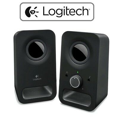 Logitech Z150 Multimedia Speakers Stereo Sound PC Computer Desktop Laptop Desk