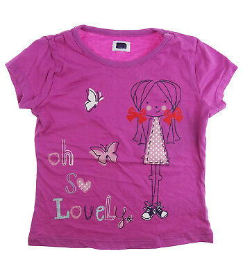 Girls Short Sleeve T-shirt Top Blouse Purple Kids 100% Cotton