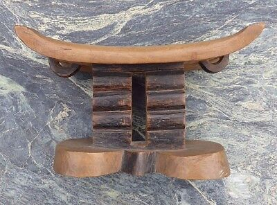 Fine Rare Antique Southern African Tsonga Carved Wooden Head Rest No Snuff Gourd